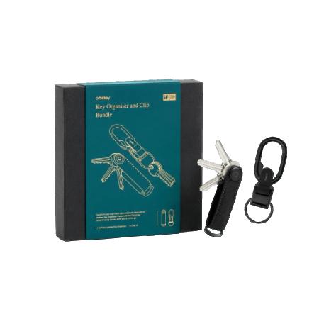 Orbitkey 2.0 Saffiano Key Holder Black Inclusief Multi-Tool Black Gift Set