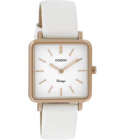 OOZOO Timepieces Horloge Parel Wit | C9941