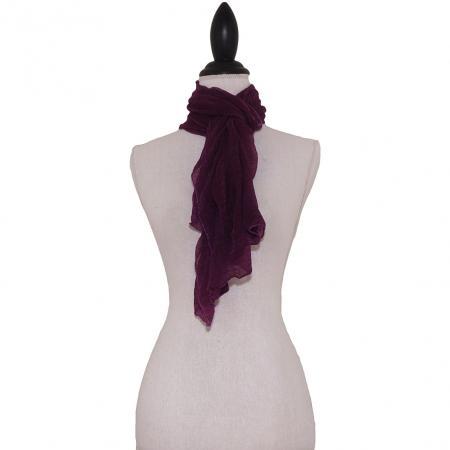 Paarse Effen Langwerpige Sjaal-0