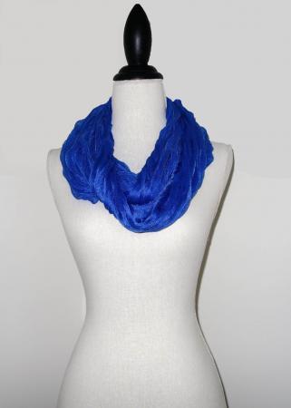 Blauwe Effen Colsjaal-0