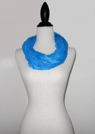Aqua Blauwe Effen Colsjaal -0
