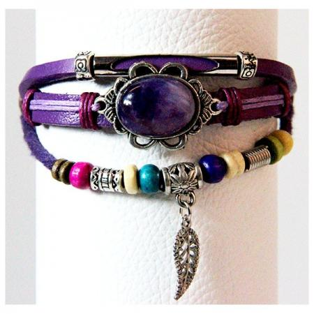 Medley Down Under Armband Amethyst Steen-0