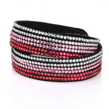 Just Crystals Armband 4-AB Mix Roze-0