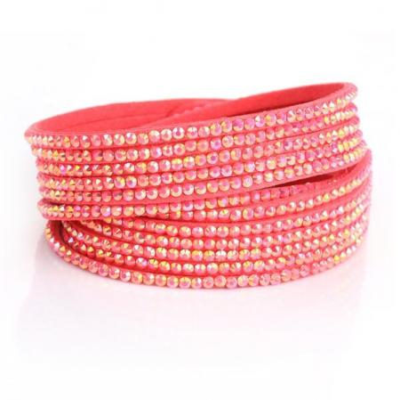 Just Crystals Armband 4-AB Roze-0