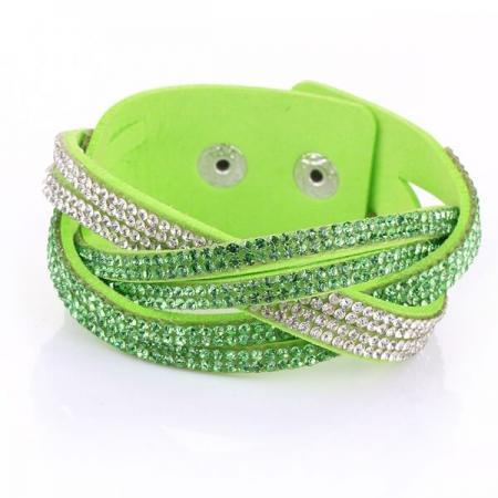 Just Crystals Armband 30-AB Groen-0