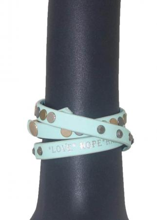 Love Hope Happiness Armband Groen-4920