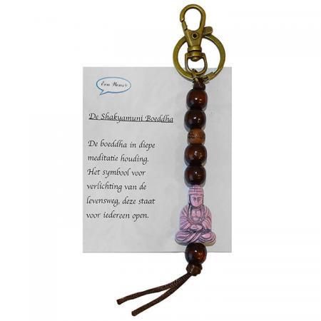 De Shakyamuni Boeddha Sleutelhanger Roze