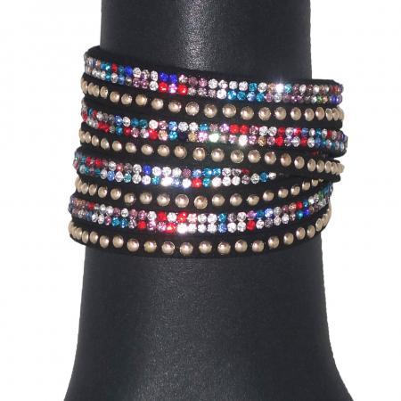 Wikkelarmband Zwart Multicolour-0