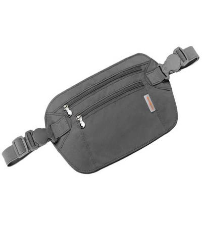 Samsonite Double Pocket Money Belt Graphite-0