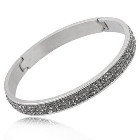 Just Crystals Edelstaal Armband 28-AB Diamond-0