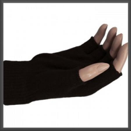 Zwarte Vingerloze Handschoenen -0