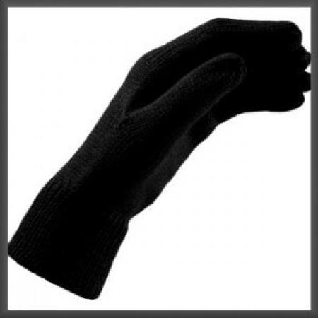Zwarte Gebreide Handschoenen S/M-0