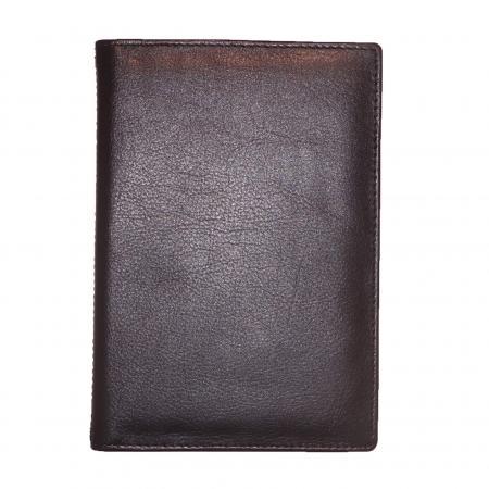 Echt Leren Leather Design Portefeuille Zwart-0
