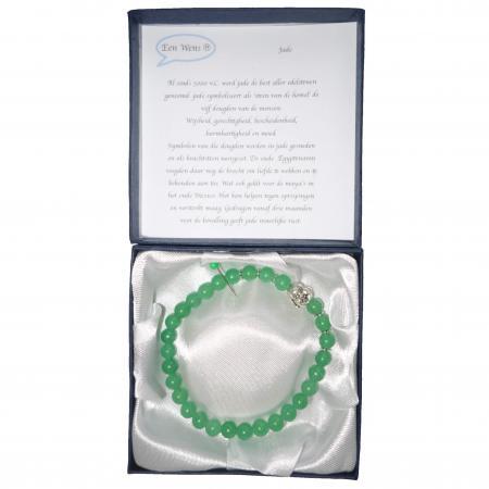 Halfedelstenen Armband in Geschenkdoos Jade-6535
