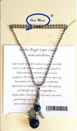 Halfedelstenen Geluks-Engel Ketting Lapis Lazuli-0