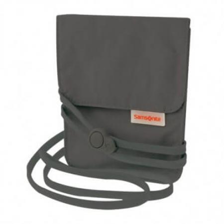 Samsonite Triple Pocket Neck Pouch Graphite-0