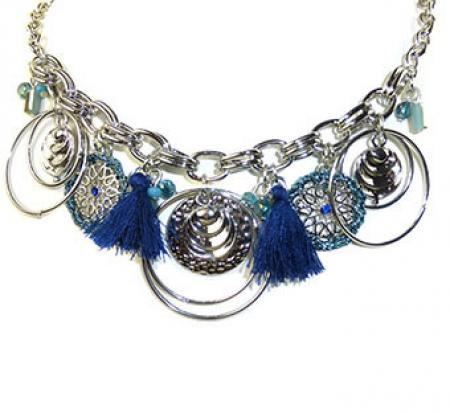 Lilly & June Ketting Charms Blauw-0