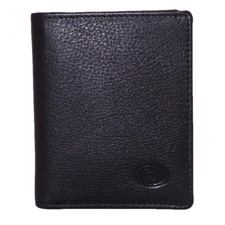 Leather Design Kaarthouder / Portemonnee 1119B Zwart-9960