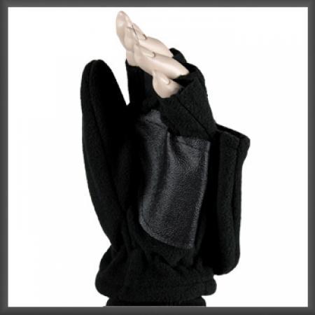 Fleece Jagers Handschoenen Zwart S/M-0