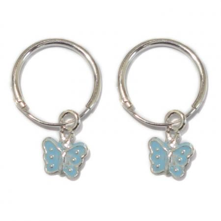 Kinder Hangoorbellen Vlinder Licht Blauw-0