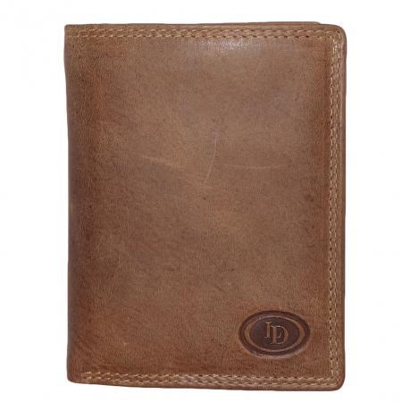 Leather Design Portemonnee met 2 Secrid Cardprotector Vakken Bruin-12824