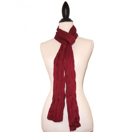 Bordeaux Rode Effen Tricot Langwerpige Sjaal-0