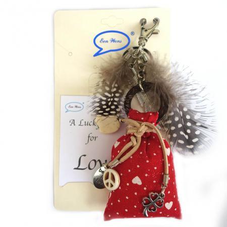 A Lucky Bag for Love Tas / Sleutelhanger Rood-0
