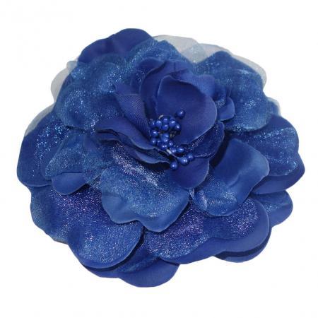 Haarbloem / Corsage Cobalt Blauw-21628