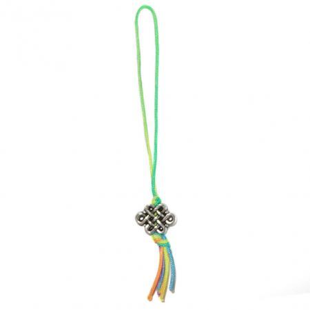 Oneindige Geluksknoop Srivatsa (Sanskriet) Sleutelhanger-0