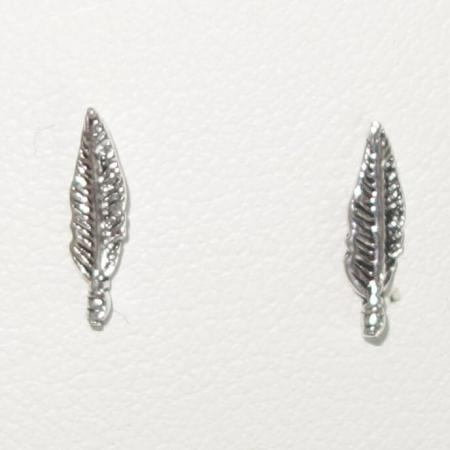 Zilveren Oorstekers Veer Klein-0