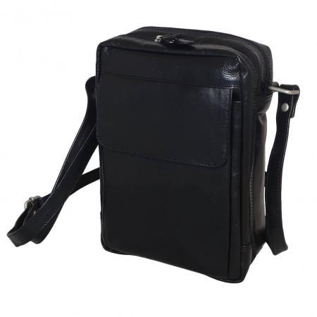 Leather Design Reportertas Hoog Unisex Zwart-0