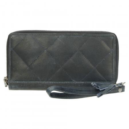 MicMacbags Zip Around RFID Portemonnee Dubbel Jeans-17873