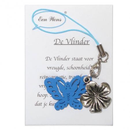 Gelukshanger De Vlinder Blauw-0