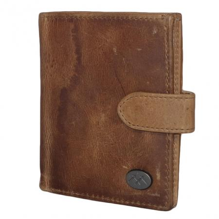 MicMacbags RFID Pasjeshouder met Drukknoop Zand-19323