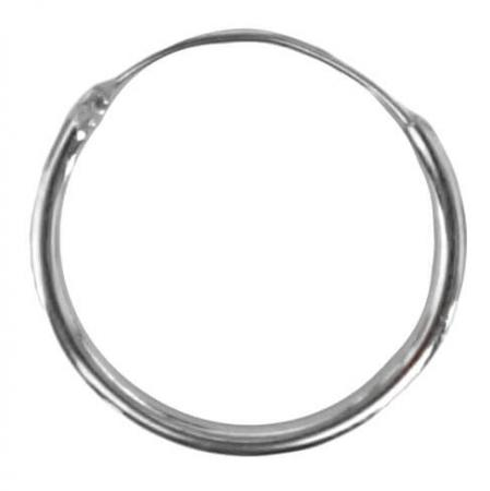 Oorring Hoops Echt Zilver 14mm-0