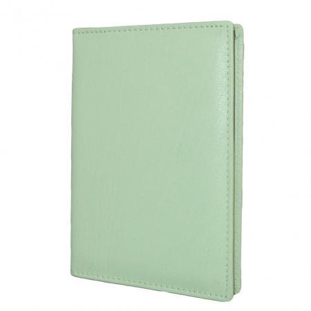 Leather Design Paspoort Etui Licht Groen-0