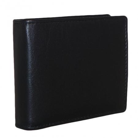 Leather Design Pasjeshouder Laag Zwart-0