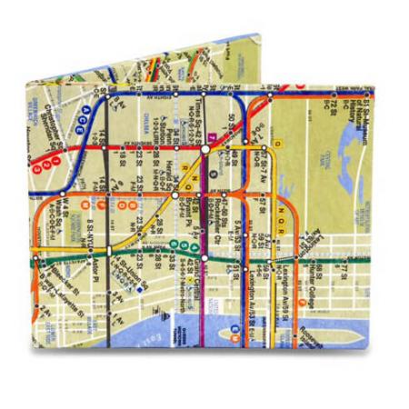 Mighty Wallet Billfold Portemonnee NYC Subway Map-20980