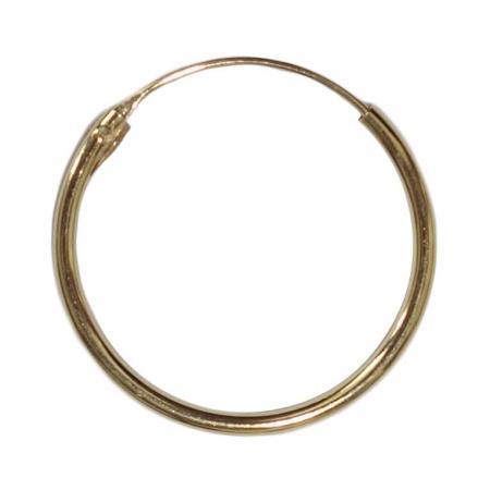 Oorring Hoops Echt Goud op Zilver 12mm-0