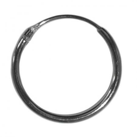 Oorring Hoops Echt Gerhodineerd Zilver 14mm-0