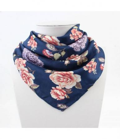 Bandana Roses Blauw-0
