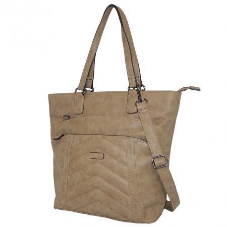 Piace Molto Shopper / Schoudertas Lisa Taupe-0