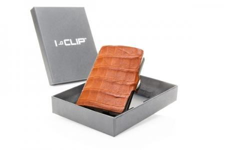I-Clip Wallet Kaarthouder Kaaiman Leer Cognac-0